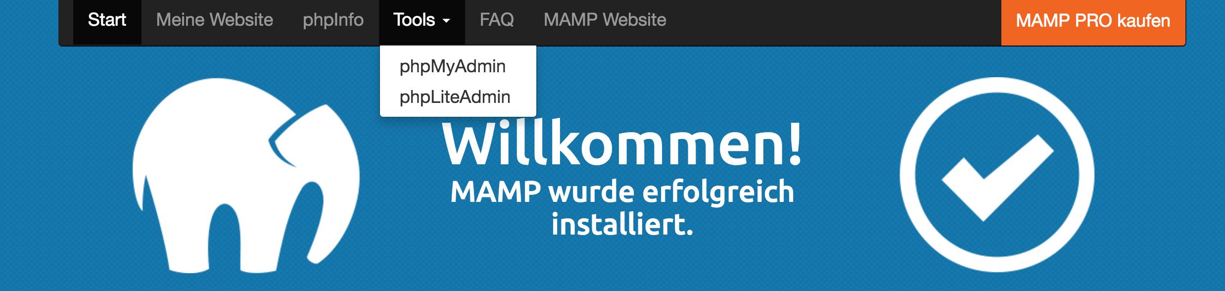 PHP My Admin Aufrufen