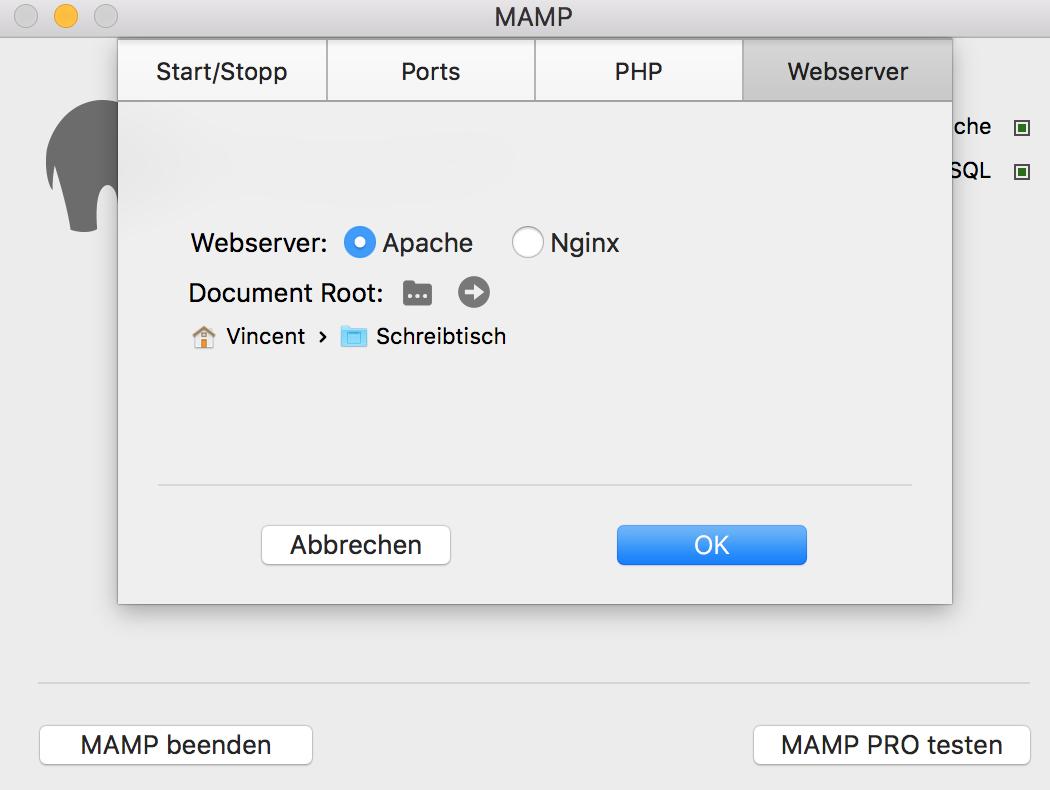 Webserver Pfad
